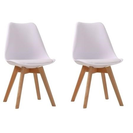 Louvre Pair of White Dining Chairs
