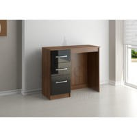 Birlea Furniture Lynx & 3 Drawer Dressing Table in black/walnut