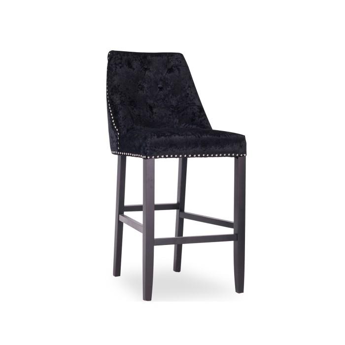 Groovy Black Crushed Velvet Bar Stools Uwap Interior Chair Design Uwaporg