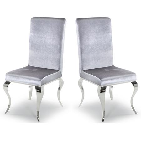 Louis Mirrored Dining Chairs