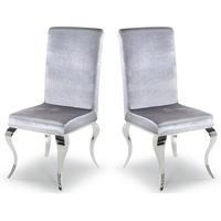 Wilkinson Furniture Pair of Louis Silver Dining Chairs