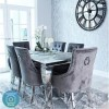 Louis Mirrored 160cm Dining Table in White - Vida Living - Seats 4-6