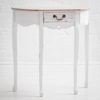 Vermont Shabby Chic Demilune Console Table