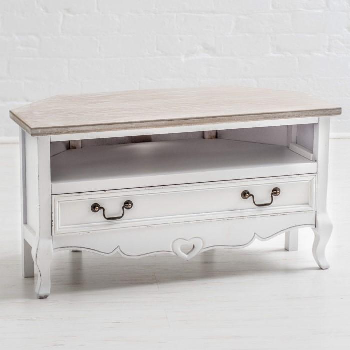 vermont shabby chic corner tv cabinet furniture123. Black Bedroom Furniture Sets. Home Design Ideas