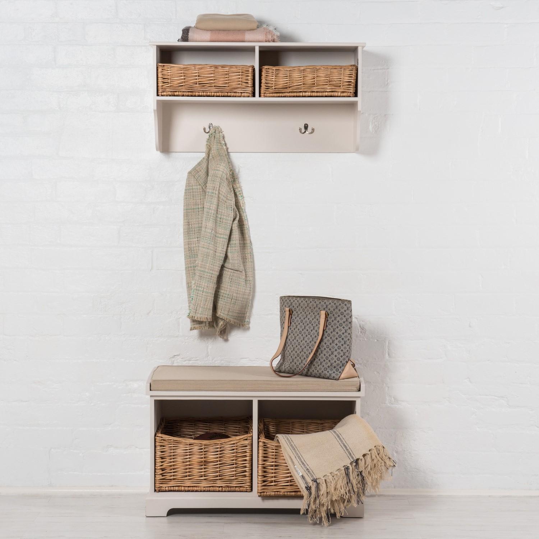 Newport 2 Basket Storage Bench U0026amp; Cushion