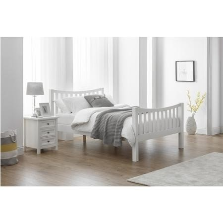 Julian Bowen Madison Curved Kingsize Bed in White