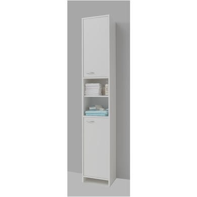 Madrid White Tall Bathroom Storage Cabinet