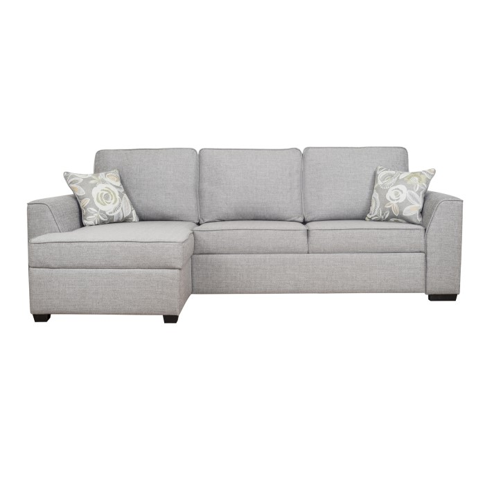 Maddox Grey Fabric Corner Sofas & Sleeper Bed | Furniture123