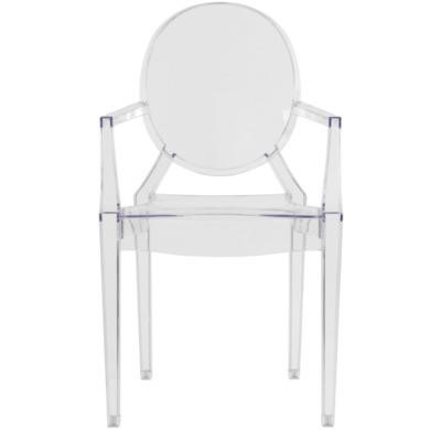 MAISONCLEAR LPD Pair of Maison Ghost Style Chairs in Clear