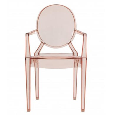 MAISONPINK LPD Pair of Maison Ghost Style Chairs in Pink
