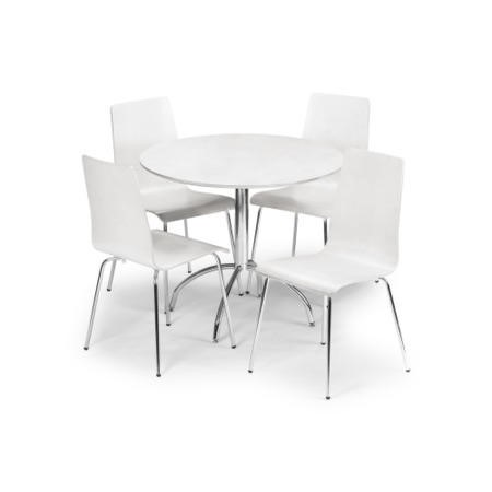 Julian Bowen Mandy White Round Dining Table Table only