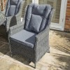 Rowlinson Grey Rattan Garden Dining Set - Seats 6 - Manhattan Range