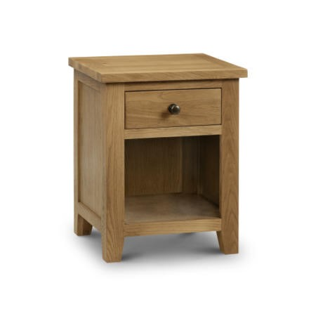 Julian Bowen Marlborough 1 Drawer Bedside Table