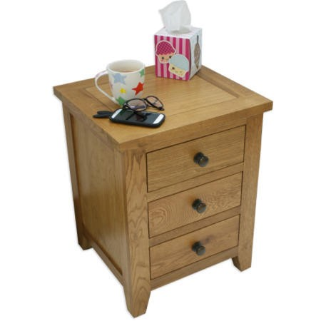 Julian Bowen Marlborough 3 Drawer Bedside Table