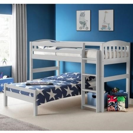 Julian Bowen Max L Shaped Combination Bunk Bed in Grey