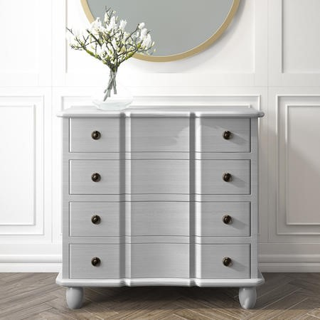 French Inspired Handmade Light Grey Chest of Drawers