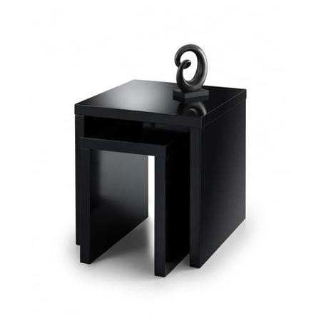 Julian Bowen Metro High Gloss Nest of Tables Black