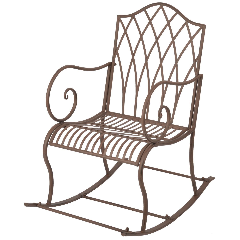 outdoor metal rocking chair