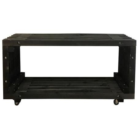 Black Low Wooden Table - Outdoor