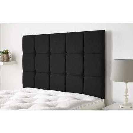 Peak headboard in Northern Weave fabric - Charcoal - Double 4ft6