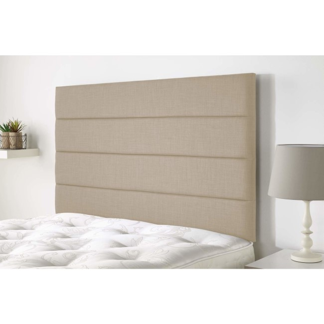 Langmere headboard in Northern Weave fabric - Sand - Double 4ft6