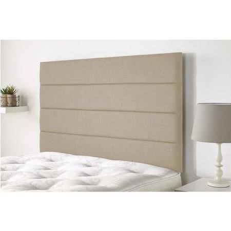 Langmere headboard in Northern Weave fabric - Sand - King 5ft