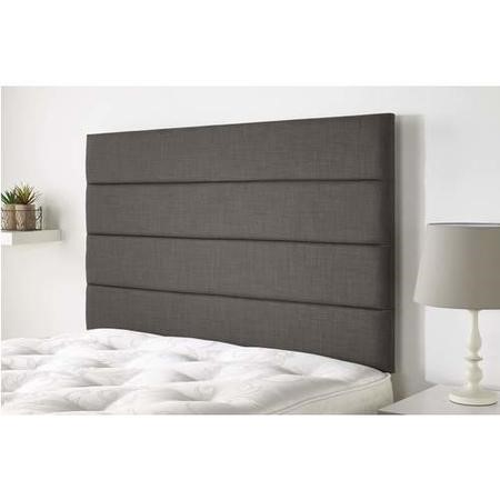 Langmere headboard in Northern Weave fabric - Slate - Double 4ft6