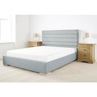 Edsfield King Size Bed Frame in Sky Weave Textured Linen Fabric