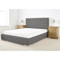 Edsfield King Size Bed Frame in Slate Weave Textured Linen Fabric