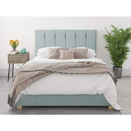 Pimilico Double Ottoman Bed in Sky Blue Fabric