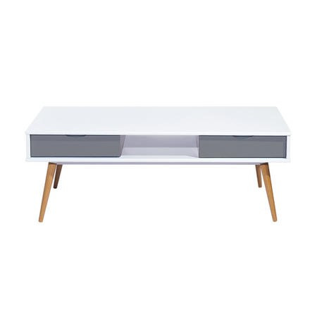 Montana Scandi Coffee Table in Grey and White
