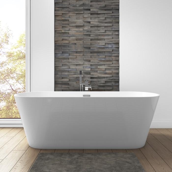 Mews Modern Freestanding Bath - 1650 x 740 x 580mm | Furniture123