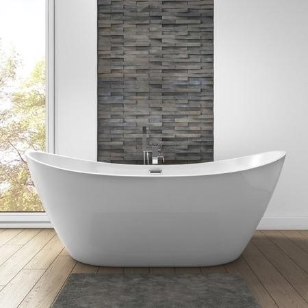 Duke Curved Double Ended Freestanding Bath - 1700 x 800mm