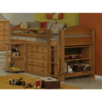 Verona Design Ltd Maximus Midsleeper Bed in Antique Pine