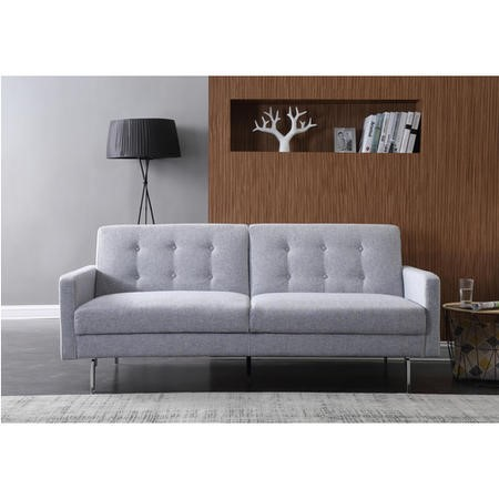 Kyoto Futons Milano Clic-Clac Sofa Bed in Silver Fabric
