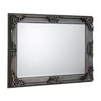 Julian Bowen Rococo Pewter Rectangular Wall Mirror