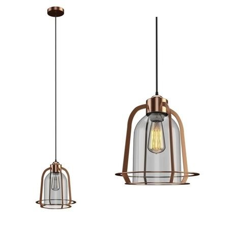 Cortland Glass Pendant Light with Copper Finish