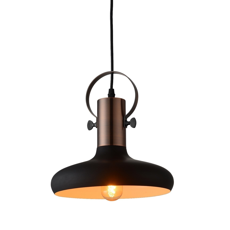 Black Copper Pendant Light Industrial Kingston Furniture123