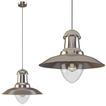 Lockport Silver Nickel Pendant Light with Bubbled Glass Finish