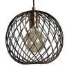 Newburgh Copper Pendant Light with Basket Design