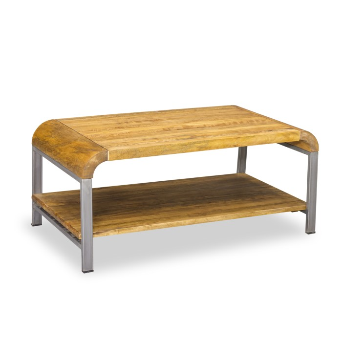 Signature North Tanner Coffee Table With Steel Table Legs Furniture123