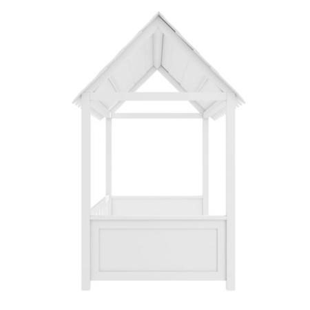 Molly White Kids House Bed with Scalloped Roof