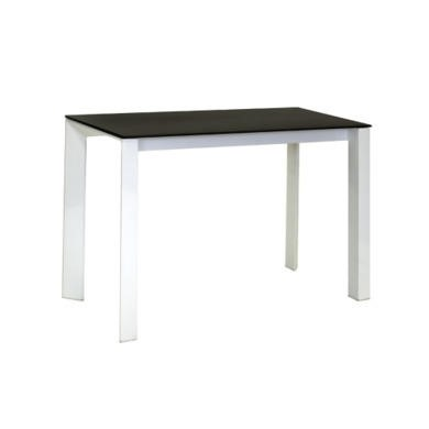 Wilkinson Furniture Mobo White High Gloss Console Table with Black Glass Top