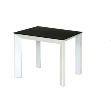 Wilkinson Furniture Mobo Black Lamp Table with Glass Top