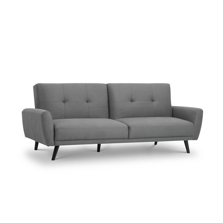 Julian Bowen Scandinavian Grey Fabric Sofa Bed   Monza