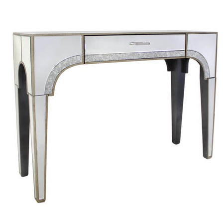 Aurora Boutique Vintage Glamour Mirrored 1 Drawer Console Table