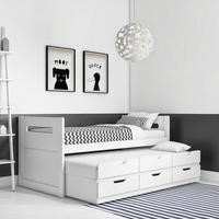 Matisse White Captain's Guest Bed with Trundle