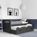 Rialto Fabric Guest Bed With Trundle Furniture123