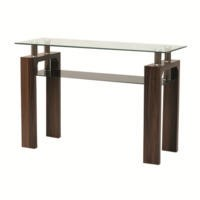 Wilkinson Furniture Maya Walnut and Glass Console Table
