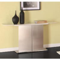 Wilkinson Furniture Mirage Brushed Steel Console Table